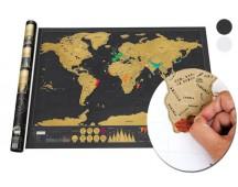 Kraskaart van de wereld