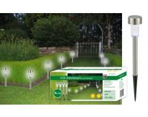LED Solarlamp rvs - set van 4 stuks
