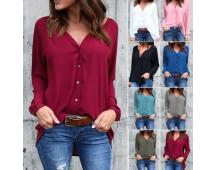 Fijne blouse in meerdere kleuren verkrijgbaar