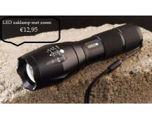 Professionele LED zaklamp met zoomfunctie