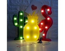 Flamingo, Kaktus of Ananas Led lamp (gratis verzonden)