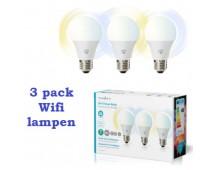 Wi-Fi smart LED-lampen E27  3-Pack