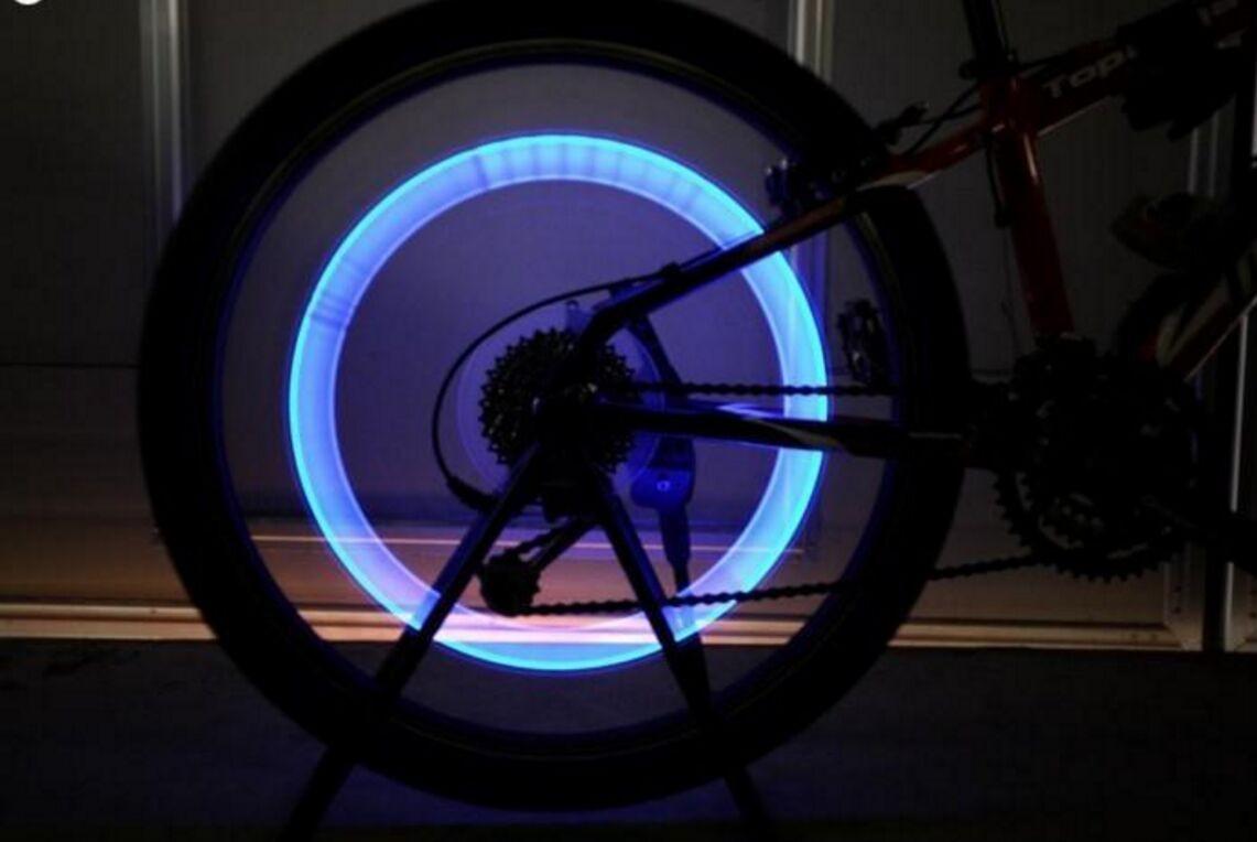 2 led fietswiel lampjes gratis verzending