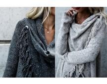 Knitted Tassel vest