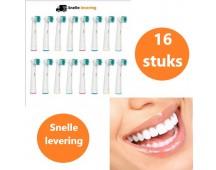 16 x opzetborstels voor Oral B of Sonicare