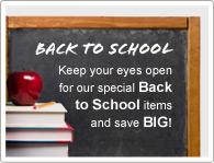 Houd onze speciale Terug naar School items in de gaten en bespaar EEN BOEL!